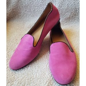 J.Crew Factory Darby leather smoking flats 7.5